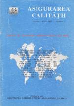 Asigurarea Calităţii - Quality Assurance, Anul I, Numărul 1, Ianuarie-Martie 1995