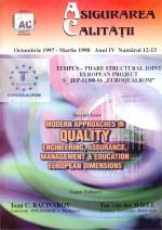 Asigurarea Calităţii - Quality Assurance, Anul IV, Numerele 12-13, Octombrie 1997 - Martie 1998