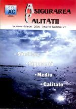 Asigurarea Calităţii - Quality Assurance, Anul VI, Numărul 21, Ianuarie-Martie 2000