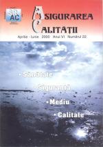 Asigurarea Calităţii - Quality Assurance, Anul VI, Numărul 22, Aprilie-Iunie 2000