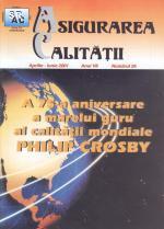 Asigurarea Calităţii - Quality Assurance, Anul VII, Numărul 26, Aprilie-Iunie 2001