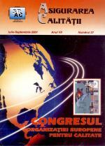 Asigurarea Calităţii - Quality Assurance, Anul VII, Numărul 27, Iulie-Septembrie 2001