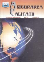 Asigurarea Calităţii - Quality Assurance, Anul VII, Numărul 28, Octombrie-Decembrie 2001