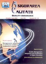 Asigurarea Calităţii - Quality Assurance, Anul VIII, Numerele 29-30, Ianuarie-Iunie 2002