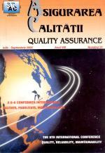 Asigurarea Calităţii - Quality Assurance, Anul VIII, Numărul 31, Iulie-Septembrie 2002
