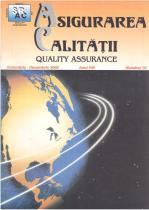 Asigurarea Calităţii - Quality Assurance, Anul VIII, Numărul 32, Octombrie-Decembrie 2002