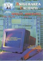 Asigurarea Calităţii - Quality Assurance, Anul IX, Numărul 34, Aprilie-Iunie 2003