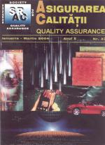 Asigurarea Calităţii - Quality Assurance, Anul X, Numărul 37, Ianuarie-Martie 2004