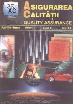 Asigurarea Calităţii - Quality Assurance, Anul X, Numărul 38, Aprilie-Iunie 2004