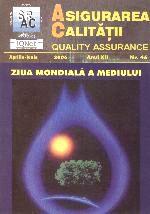Asigurarea Calităţii - Quality Assurance, Anul XII, Numărul 46, Aprilie-Iunie 2006