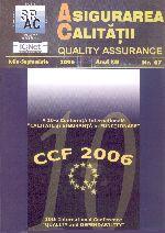 Asigurarea Calităţii - Quality Assurance, Anul XII, Numărul 47, Iulie-Septembrie 2006