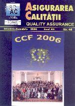 Asigurarea Calităţii - Quality Assurance, Anul XII, Numărul 48, Octombrie-Decembrie 2006