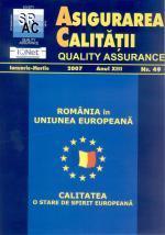 Asigurarea Calităţii - Quality Assurance, Anul XIII, Numărul 49, Ianuarie-Martie 2007