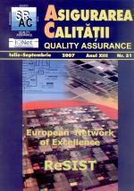 Asigurarea Calităţii - Quality Assurance, Anul XIII, Numărul 51, Iulie-Septembrie 2007
