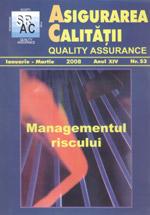 Asigurarea Calităţii - Quality Assurance, Anul XIV, Numărul 53, Ianuarie-Martie 2008