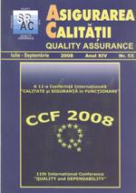 Asigurarea Calităţii - Quality Assurance, Anul XIV, Numărul 55, Iulie-Septembrie 2008