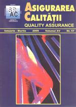 Asigurarea Calităţii - Quality Assurance, Anul XV, Numărul 57, Ianuarie-Martie 2009