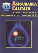 Asigurarea Calităţii - Quality Assurance, Anul XVII, Numărul 67, Iulie-Septembrie 2011