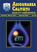 Asigurarea Calităţii - Quality Assurance, Anul XXIII, Numărul 89, Ianuarie-Martie 2017