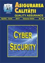 Asigurarea Calităţii - Quality Assurance, Anul XXIII, Numărul 90, Aprilie-Iunie 2017