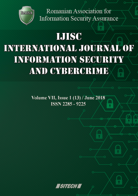 IJISC – International Journal of Information Security and Cybercrime, Volume 7, Issue 1, Year 2018