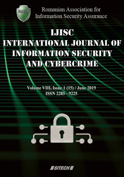 IJISC – International Journal of Information Security and Cybercrime, Volume 8, Issue 1, Year 2019