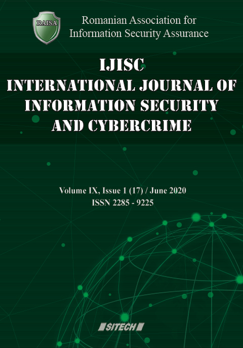 IJISC – International Journal of Information Security and Cybercrime, Volume 9, Issue 1, Year 2020