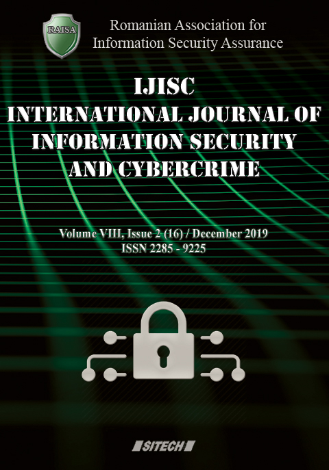 IJISC – International Journal of Information Security and Cybercrime, Volume 8, Issue 2, Year 2019